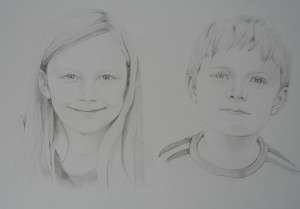 Alfie and Fran Mason - Graphite pencil A3